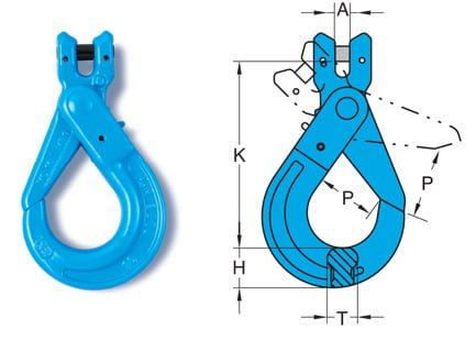Grade 10 Clevis Self Locking Hook