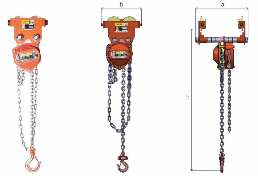 ATEX combined chain hoist