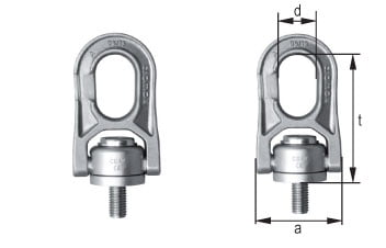 cromox Grade 6 Swivel Lifting Points CDAW