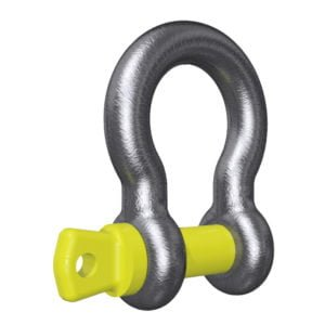 Yellow Screw Pin Bow Shackle